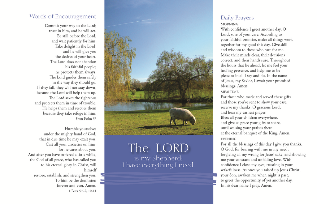 The Lord Is My Shepherd Prayer Card