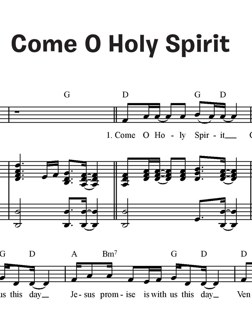 Come O Holy Spirit (Together in Jesus)