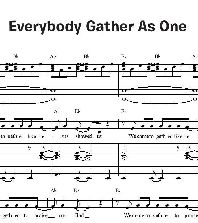 Everybody Gather As One (Together in Jesus)