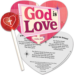 God is Love! Lollipop with Gift Card