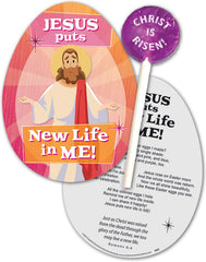 Jesus Puts New Life In Me! Lollipop with Gift Card