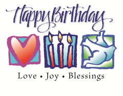 Happy Birthday Card. Love, Joy, Blessings