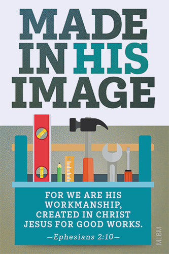 Made in His Image Father's Day Magnet
