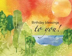 Birthday Wishes to You Parish Occasion Card - Blank