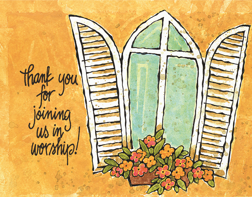 Thank You For Joining Us In Worship! Card
