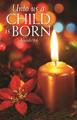 Advent Prayer Card - Unto Us a Child is Born