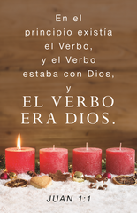 Spanish Advent Prayer Card - En El Principio