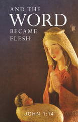 Christmas Prayer Card - And the Word Became Flesh
