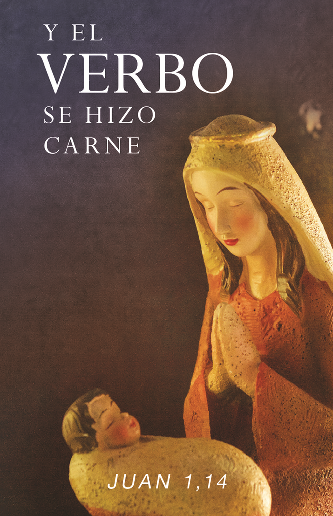 Spanish Christmas Prayer Card - And the Word Became Flesh