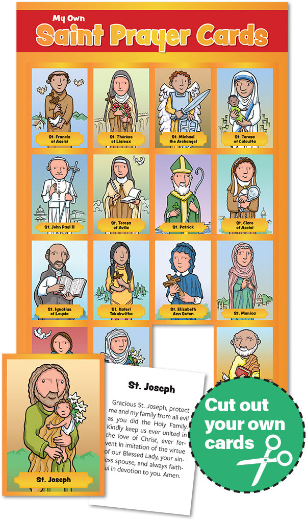 Saint Prayer Cards For Children