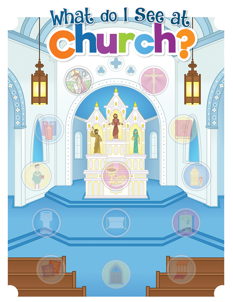 What Do I See at Church - Sticker Sheets & Poster