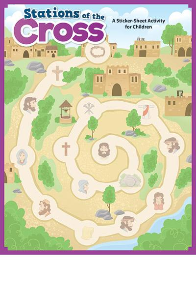 Stations Of The Cross - Activity Sheet + Stickers