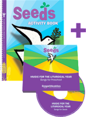 Seeds Activity Book + 2 CD Set  — Preschool  — Pflaum Gospel Weeklies