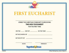 First Eucharist Certificates — Set of 10 — Together in Jesus