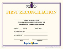 First Reconciliation Certificates — Set of 10 — Together in Jesus