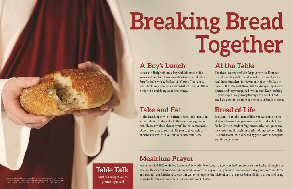 Meals And Celebrations Placemat - Breaking Bread Together