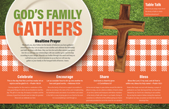 God's Family Gathers - Parish Family Day Placemat