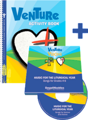 Venture Activity Book + 2 CD Set — Grades 4-6 — Pflaum Gospel Weeklies