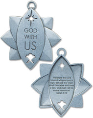 Metal Christmas Ornament - God with Us