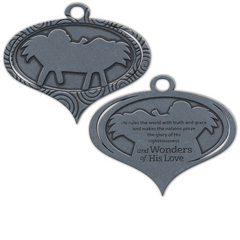 Wonders of His Love Metal Christmas Ornament
