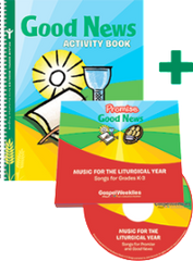 Good News Activity Book + 2 CD Set  — Grades 2 to 3 — Pflaum Gospel Weeklies