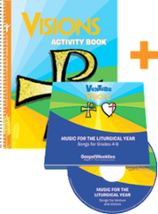 Visions Activity Book + 2 CD Set — Grades 7-9 — Pflaum Gospel Weeklies