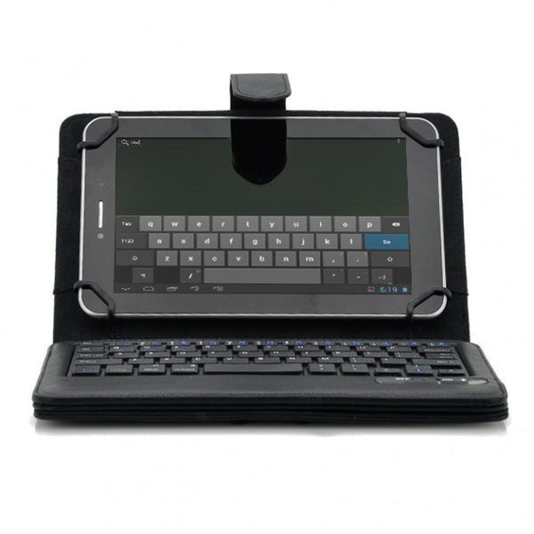 Universal Bluetooth Keyboard Case for 7 to 8 Inch IOS + Android + Window Tablets