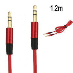 Replacement RED L Jack 3.5mm Audio AUX Cable Cord Lead for BEATS STUDIO SOLO PRO