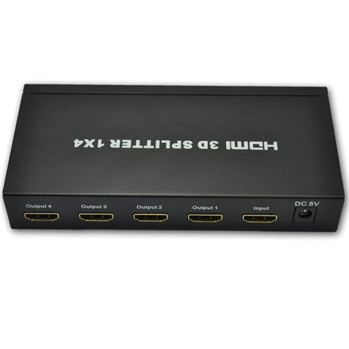 4 Way HDMI Splitter Box (1 Input 4 Output) Display HD signal On 4 TVs