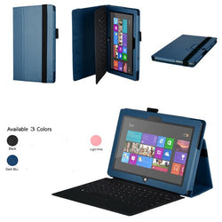 Folio Holder Leather Case Cover For Microsoft Surface Windows 8 Tablet PC