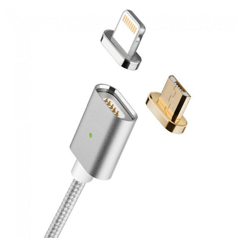 2 in 1 Magnetic Charging Cable Lightning and Micro USB for iPhone/iPad/Android