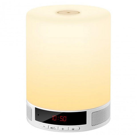 Bluetooth Touch LED Bedroom Lamp & Speaker with Alarm Clock