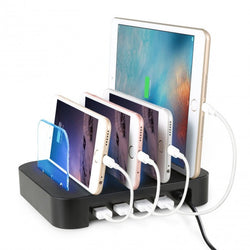 4 USB Port Charging Dock Desktop Organizer