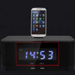 Bluetooth Docking Speaker Supported Radio Alarm Clock for Samsung