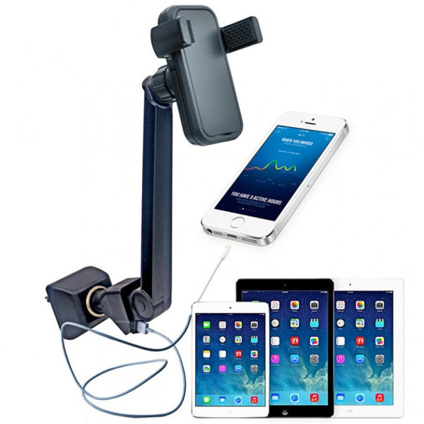 Full 360 Degree Rotation Car Charger Mount for Smartphones