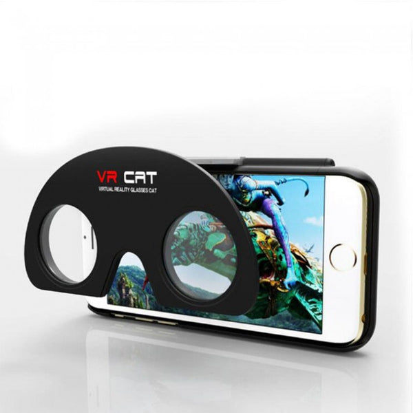 VR Cat Case Cover Glasses for iPhone 6/6s and 6/6s Plus (Black)