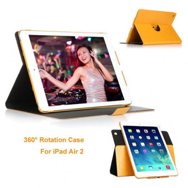 360 Degree Rotating Leather Swivel Case for Apple iPad Air 2