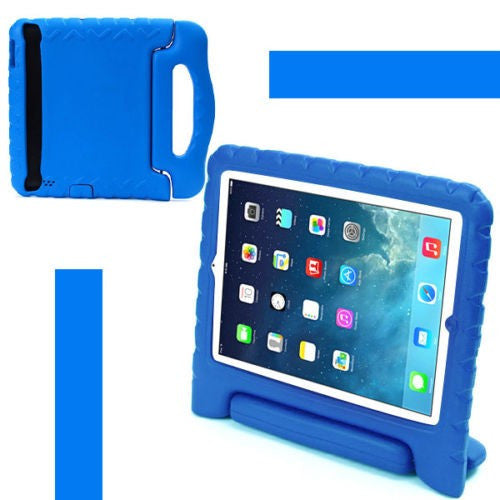 Kids Shockproof Foam Handle Protective Case Cover for iPad Air 2 (Blue)