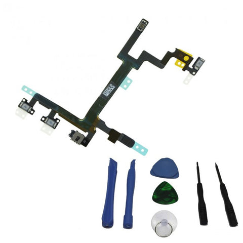 Replacement Power/Lock Volume & Mute Button Flex Cable ON OFF For iPhone 5S