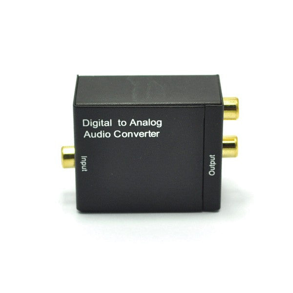 Digital Optical Coax Coaxial Toslink to Analog RCA L/R Audio Converter