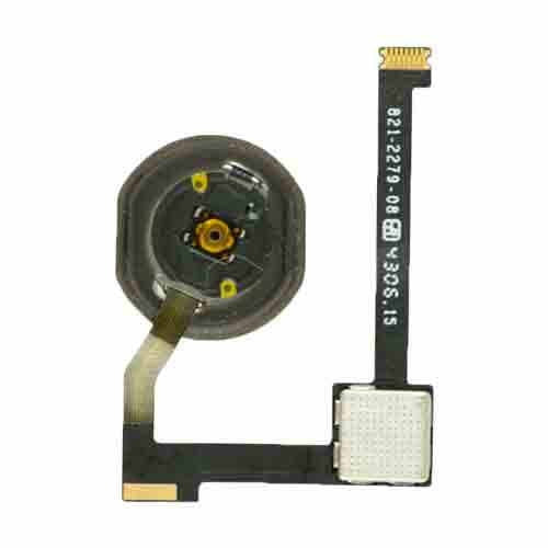 Home Button With Flex Cable Replacement Part for iPad Air 2 (White)