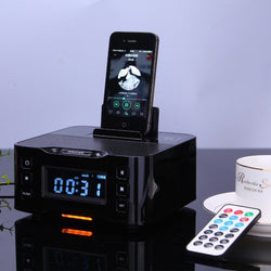 Docking Station with FM Radio, Bluetooth NFC and Alarm Clock Speaker (Apple/Android)