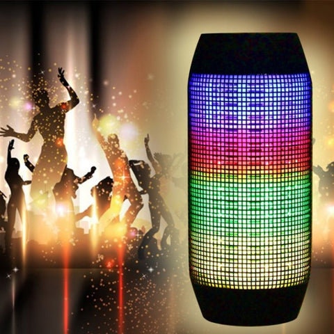 Flash LED Light Portable Bluetooth Wireless Rechargeable Speaker for iPhone Samsung HTC