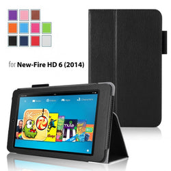 Leather Smart Case Cover Stand For Amazon Kindle Fire HD 6' 7''