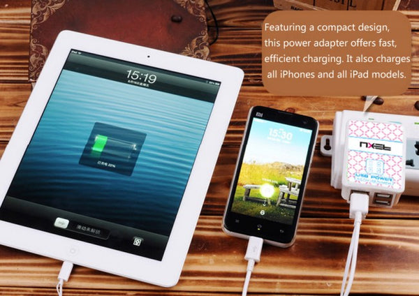 Universal 4 USB Ports Wall Mains Charger Power Adapter