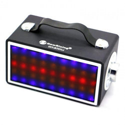 Retro Style LED Light Bluetooth Speaker with Strap (Red or Black)