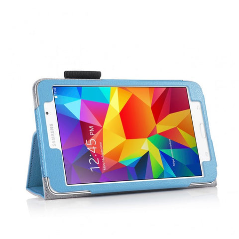 Slim Folio PU Leather Stand Cover Book Case For Samsung Galaxy Tab4 8.0""