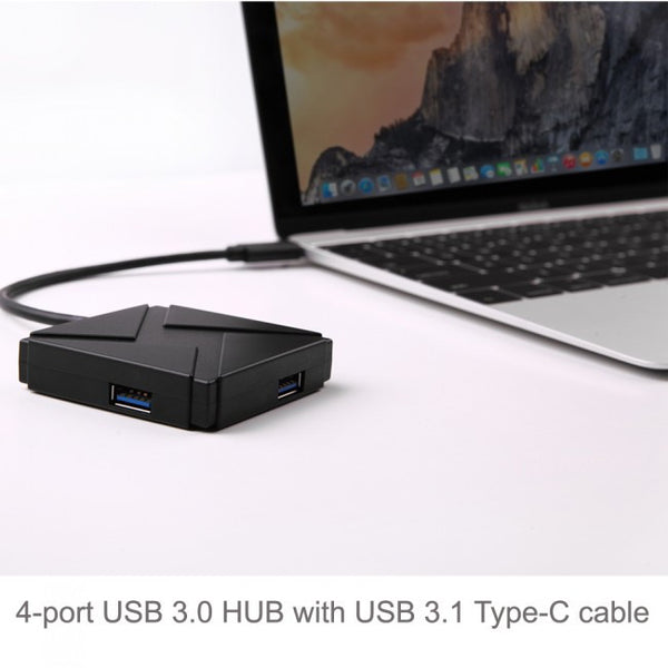 Aluminum USB 3.1 Type-C 4 Ports Hub Adapter for Macbook, Macbook Pro