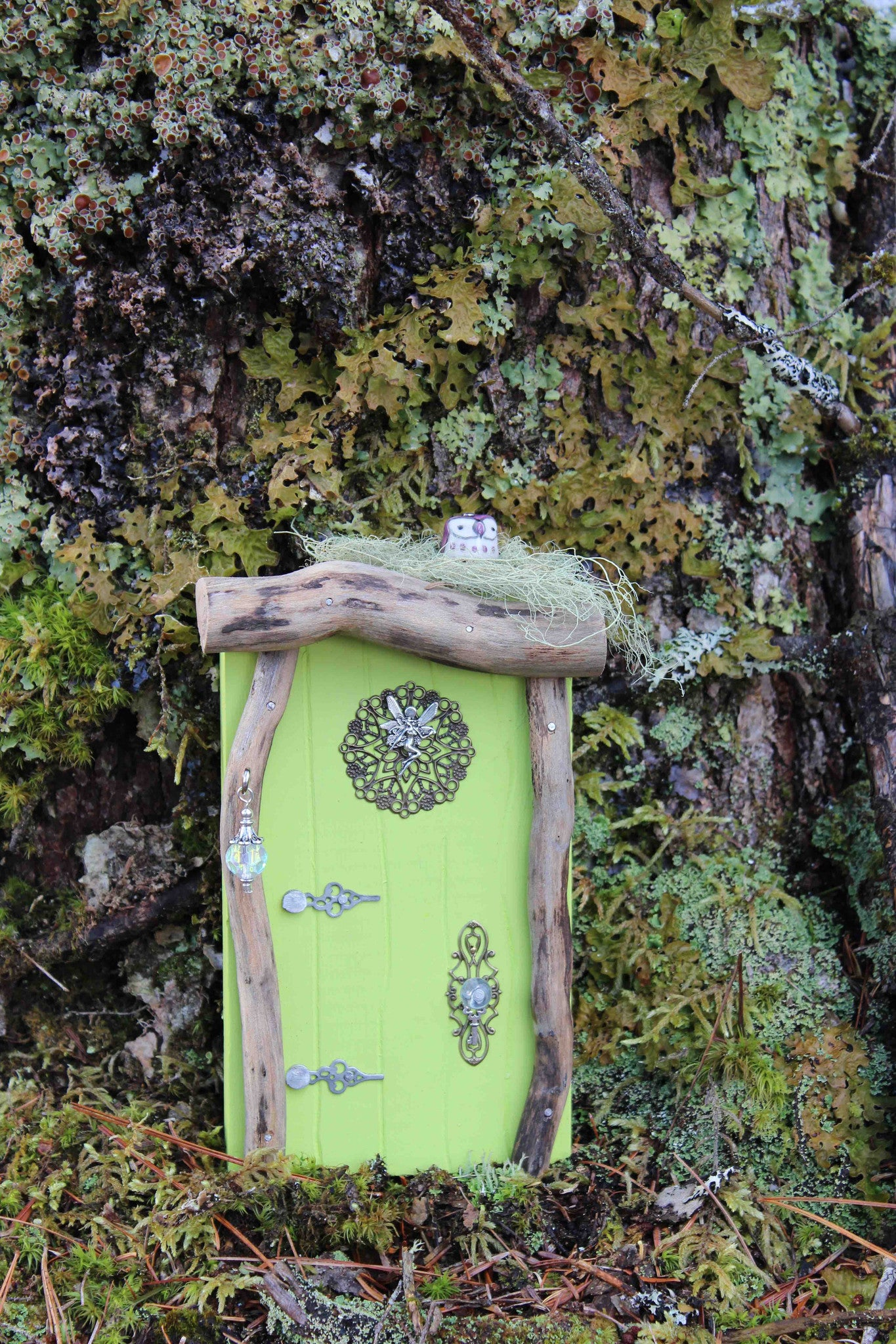 leaf lime fairy door