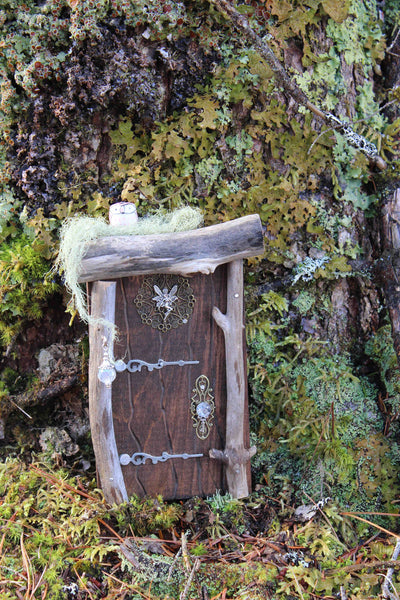 brown fairy door, product front, nova scotia, canada, fernwood fairy doors